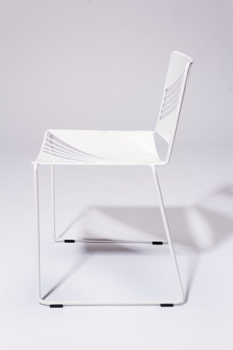 Alternate view 3 of Fly White Enamel Chair
