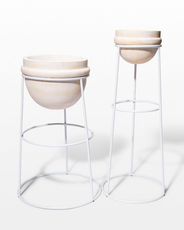Front view of Sol Planter Stand Duo