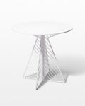 Alternate view thumbnail 1 of Fly White Enamel Bistro Table and Chair Set