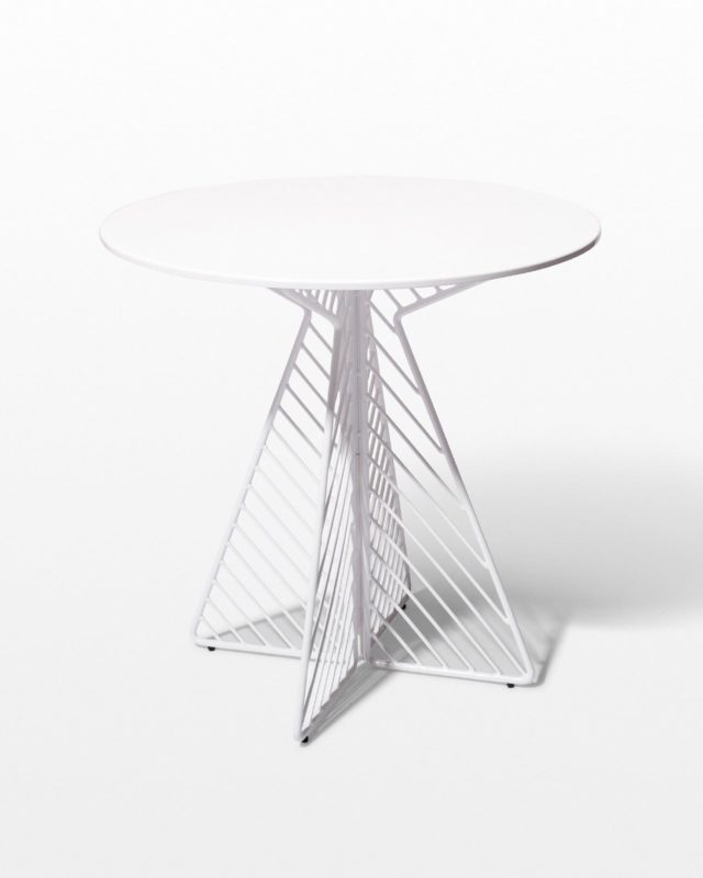 Front view of Fly White Enamel Bistro Table