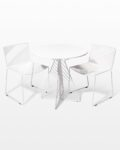 Front view thumbnail of Fly White Enamel Bistro Table and Chair Set
