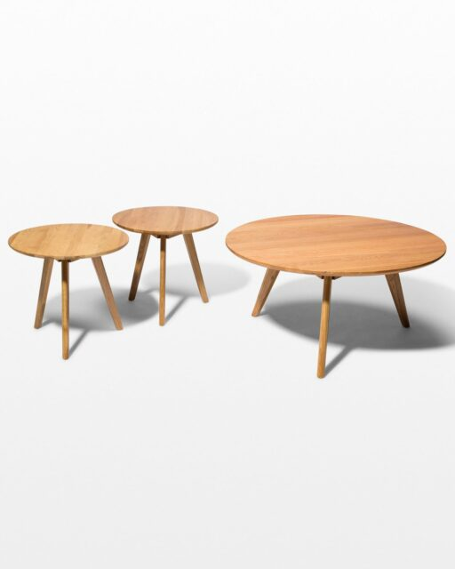 Front view of Tai Coffee and Side Tables Set