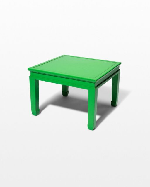Front view of Finn Lime Green End Table