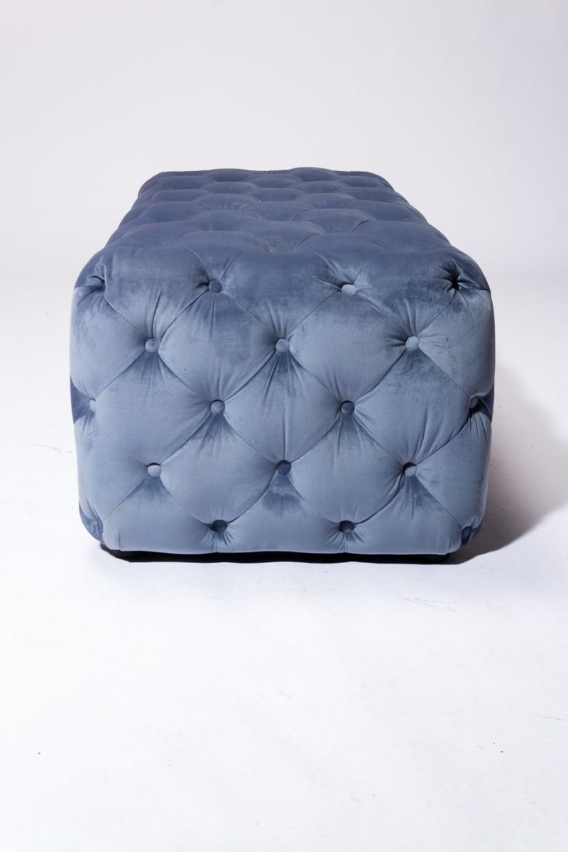 Alternate view 3 of Gabi Tufted Sky Blue Velvet Ottoman