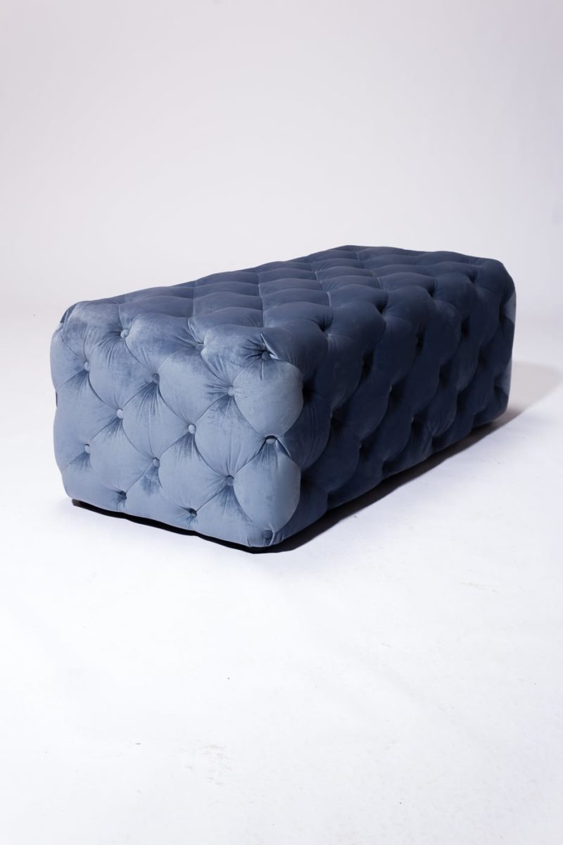 Alternate view 4 of Gabi Tufted Sky Blue Velvet Ottoman