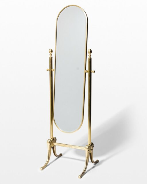 Front view of Monroe Gold Floor Mirror