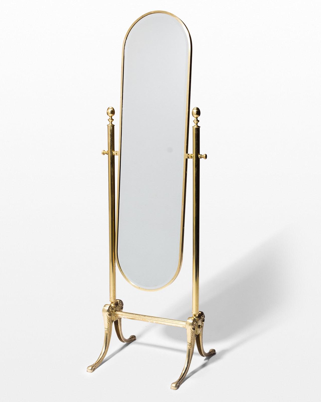 Bd009 Monroe Gold Floor Mirror Prop Rental Acme Brooklyn
