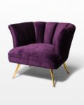 Front view thumbnail of Rowland Scalloped Velvet Chair