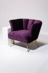 Alternate view thumbnail 2 of Rowland Scalloped Velvet Chair