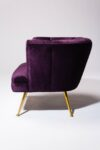Alternate view thumbnail 3 of Rowland Scalloped Velvet Chair