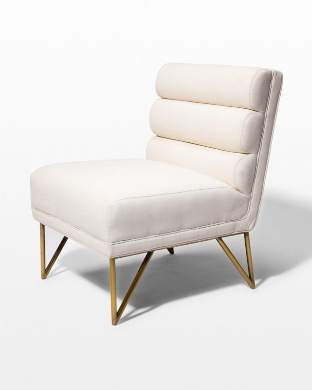 Front view of Tropez Cream Velvet Chair