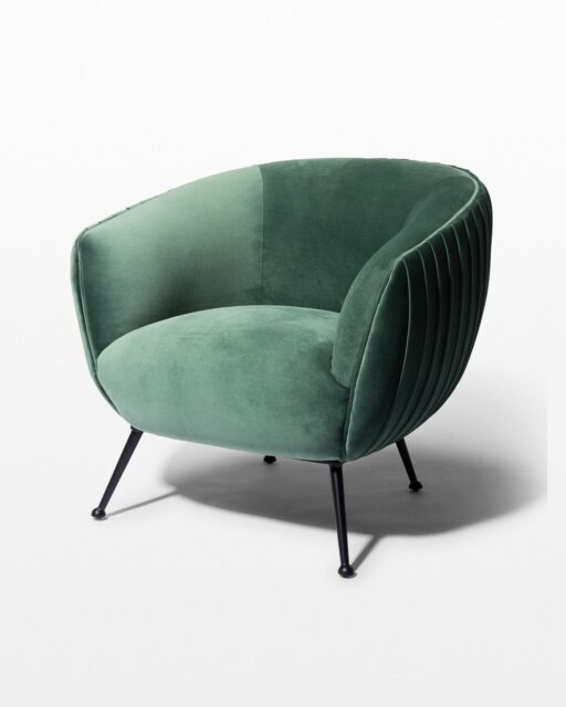 Front view of Imogen Moss Velvet Chair