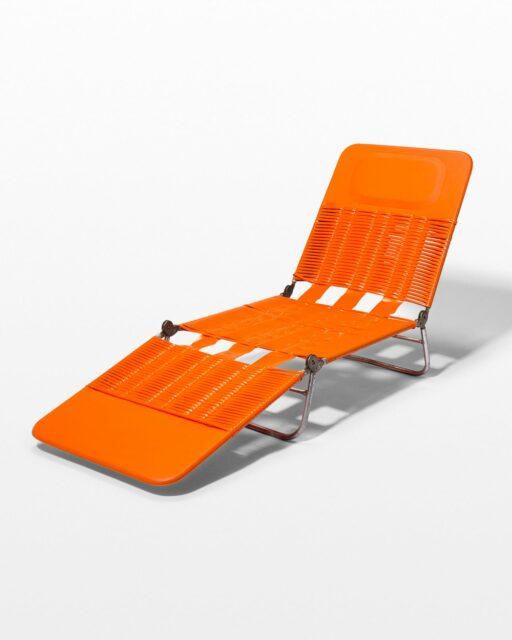 Front view of Buena Orange Beach Chair