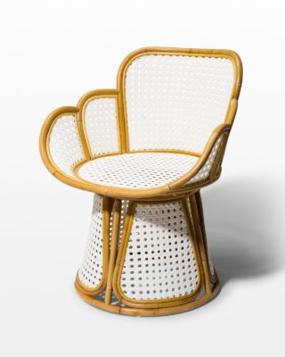 Front view of Cadence Caned Rattan Chair