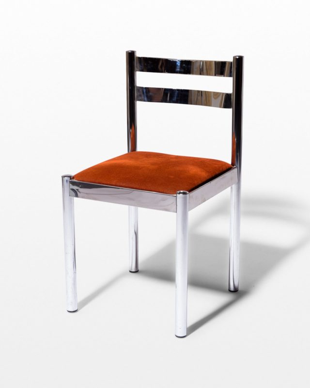 Front view of Cora Chrome Chair