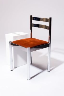 Alternate view 1 of Cora Chrome Chair