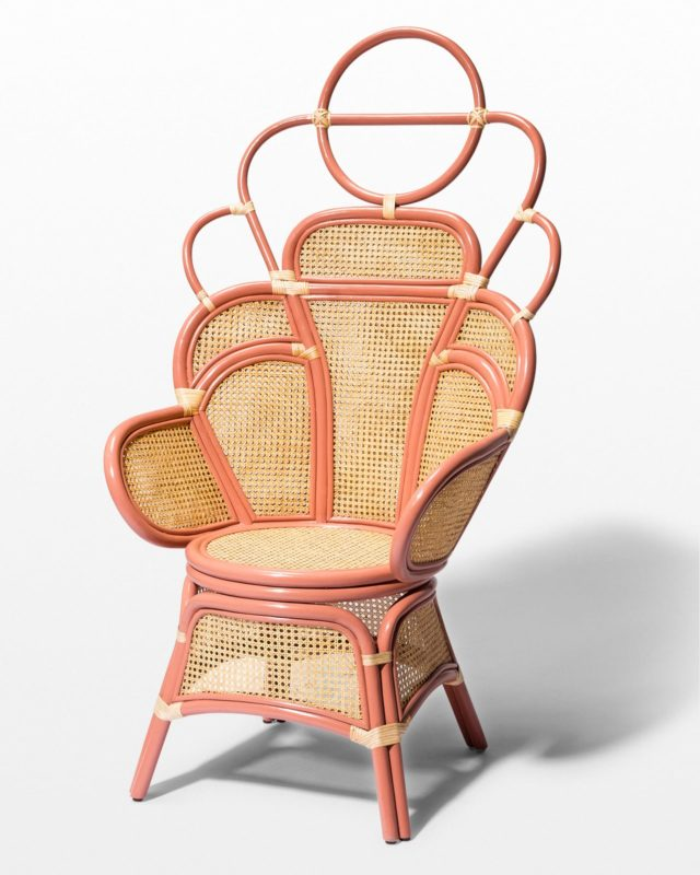 Front view of Pippa Coral Peacock Chair