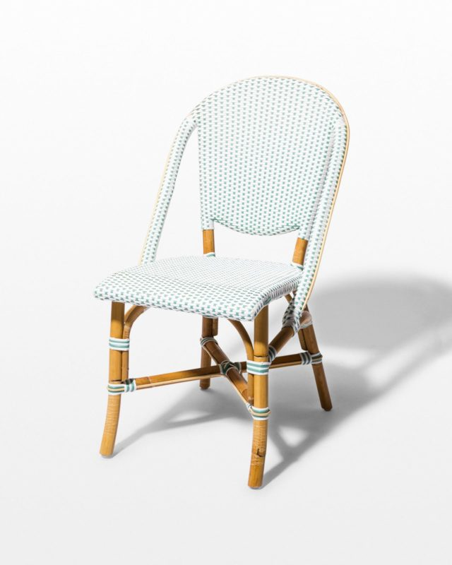Front view of Julissa Rattan Bistro Chair