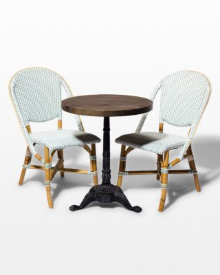 Front view of Julissa and Ambrose Bistro Dining Set