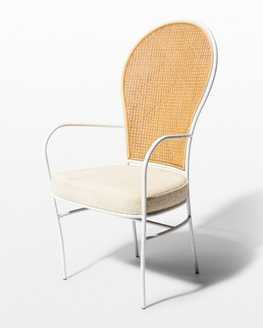 Front view of Jorja Cane and Frame Chair