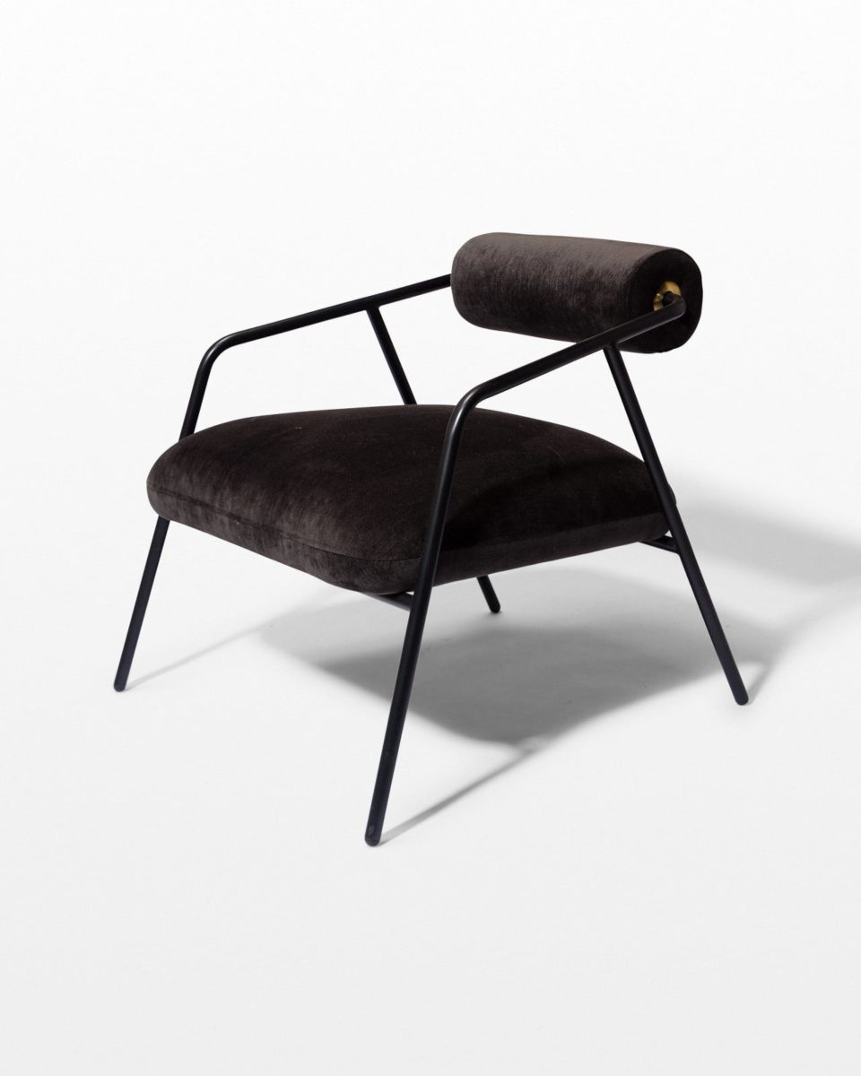 Front view of Kirby Slate Velvet Lounge Chair