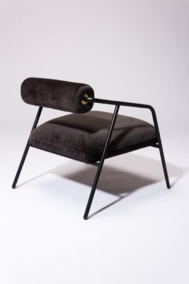 Alternate view 4 of Kirby Slate Velvet Lounge Chair
