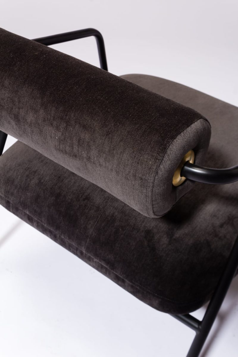 Alternate view 5 of Kirby Slate Velvet Lounge Chair