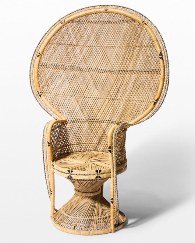 Front view of Rey Peacock Chair