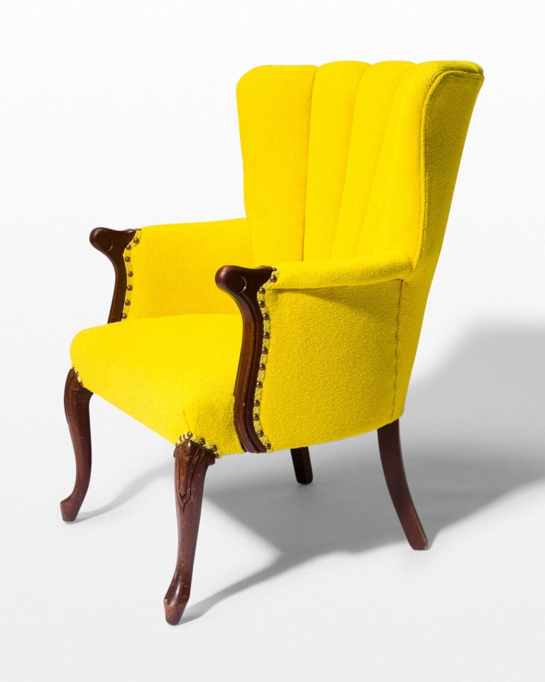 Front view of Layla Yellow Armchair