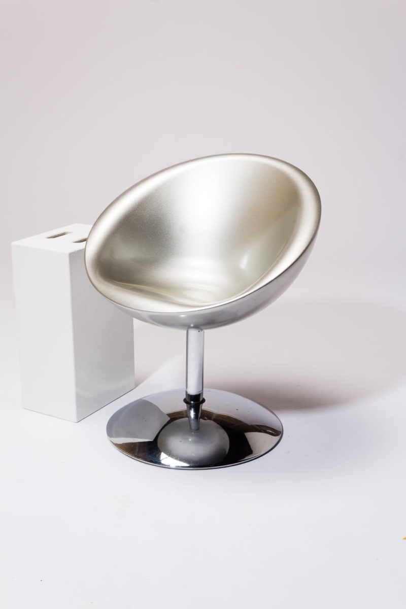 Alternate view 1 of Ziggy Silver Saucer Chair