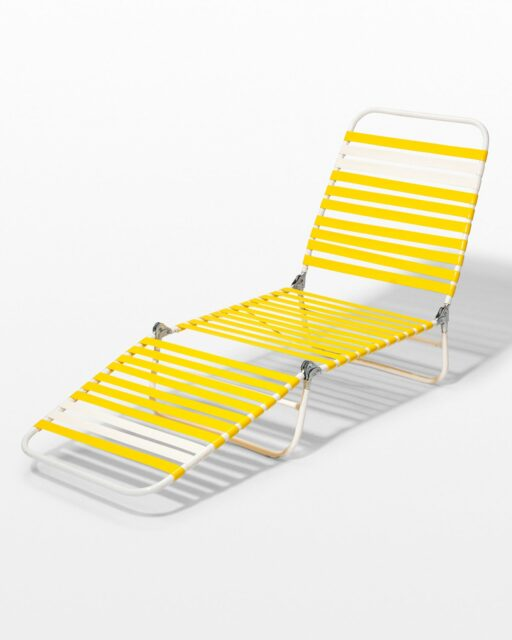 Front view of Sammy Yellow Beach Chair