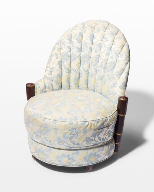 Front view of Koda Floral Scallop Chair