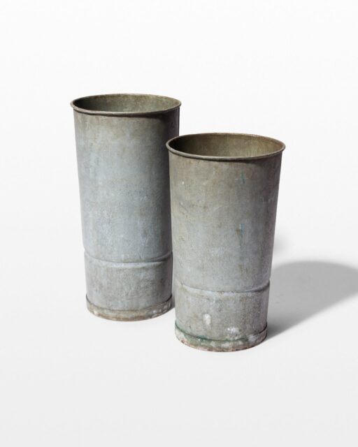 Front view of Brody Metal Pail Pair