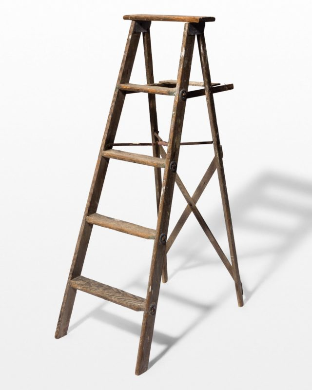 Front view of 4 3/4 Foot Tolman Distressed Ladder