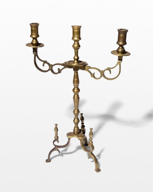 Front view of Sonar Brass Candleabra