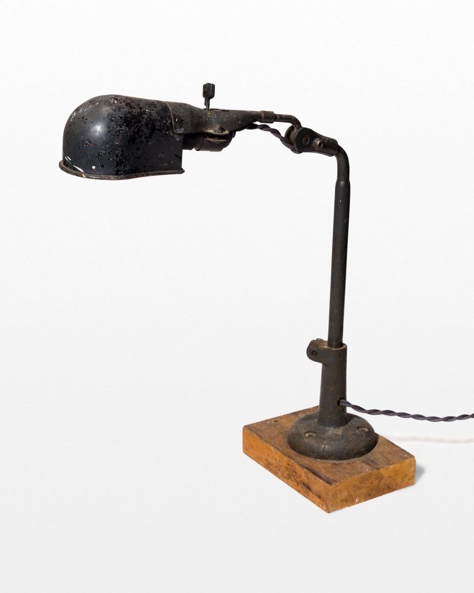 Front view of Metro Distressed Antique Task Lamp