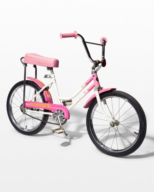 Front view of Maxi Vintage Pink Kids Bicycle