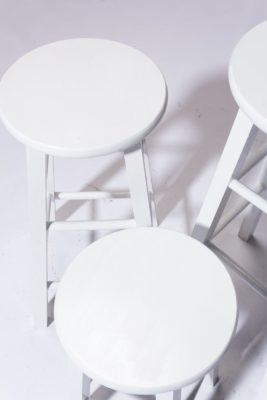 Alternate view 2 of White Studio Stool Trio
