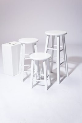 Alternate view 1 of White Studio Stool Trio