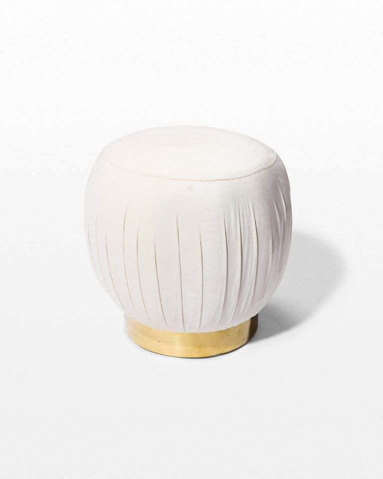 Front view of Bette Cream Pouf Ottoman