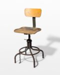 Front view thumbnail of Pique Seatback Industrial Stool