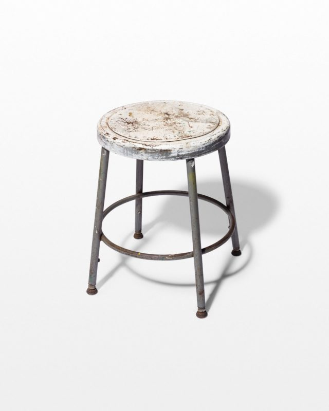 Front view of Alca Distresed Low Stool