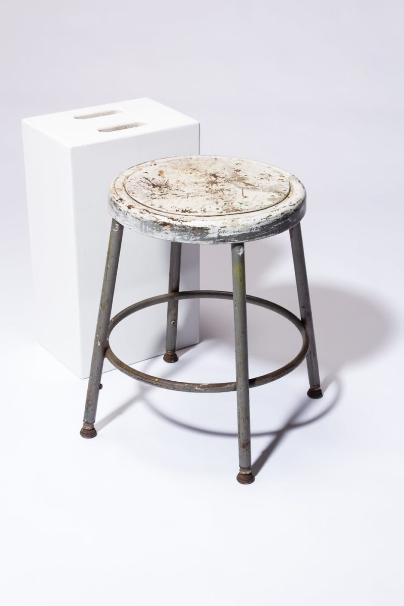 Alternate view 1 of Alca Distresed Low Stool