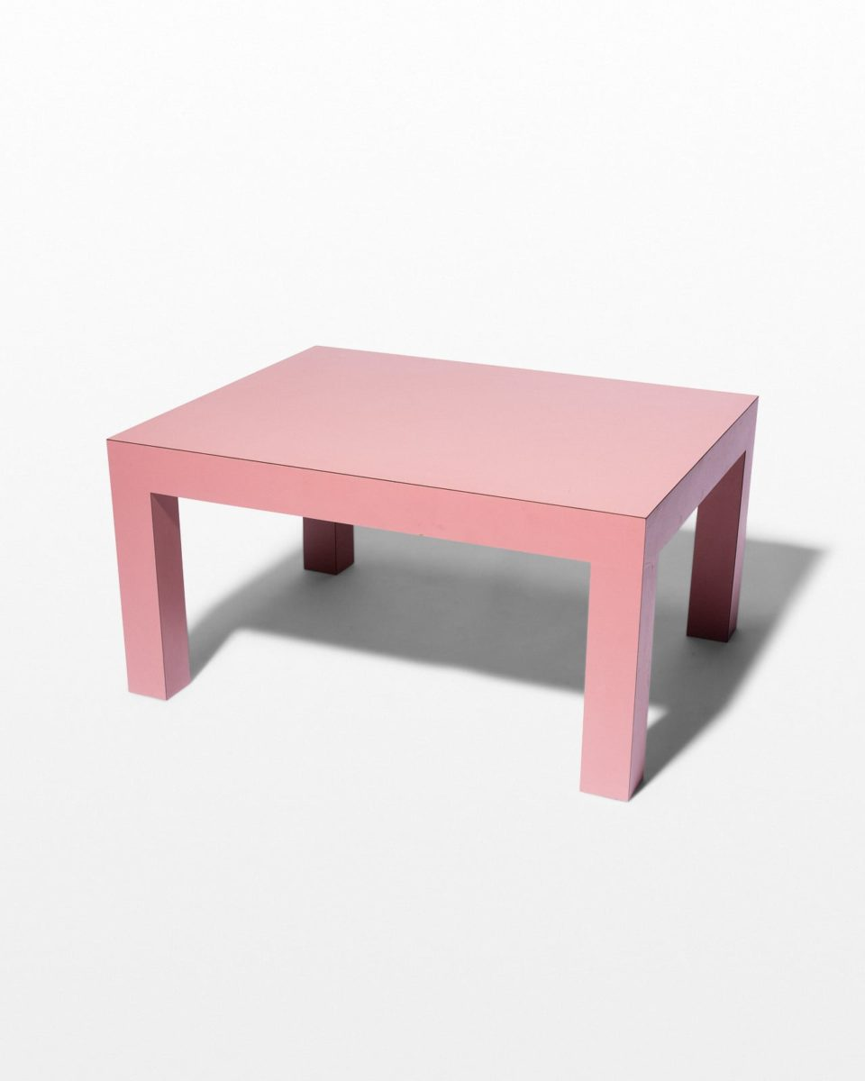 "Front view of Cali 15"" Pink Laminate Table"