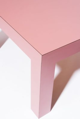 "Alternate view 3 of Cali 15"" Pink Laminate Table"
