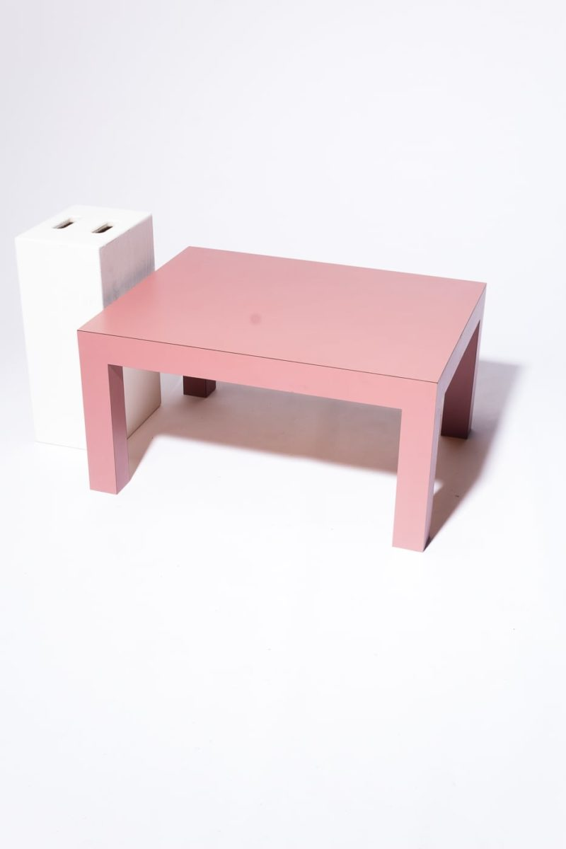 "Alternate view 1 of Cali 15"" Pink Laminate Table"