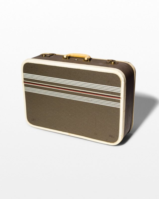 Front view of Bora Striped Suitcase