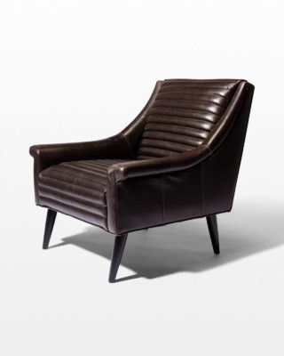 Front view of Sonoma Channeled Charcoal Leather Chair