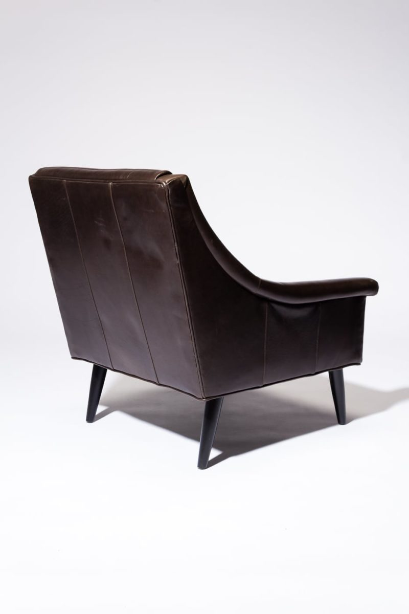 Alternate view 5 of Sonoma Channeled Charcoal Leather Chair