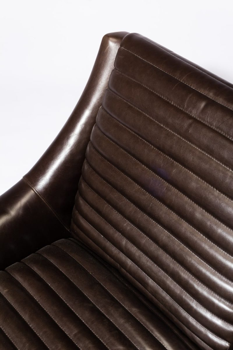 Alternate view 1 of Sonoma Channeled Charcoal Leather Chair